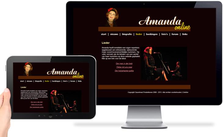 Amanda > Website