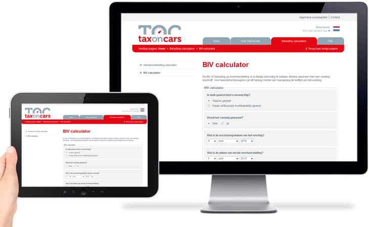 TaxOnCars > BIV calculator formulier