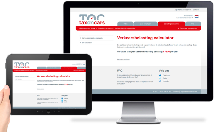 TaxOnCars > Verkeersbelasting calculator